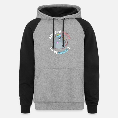 Asian Are You Ratty To Be Fancy - Unisex Colorblock Hoodie