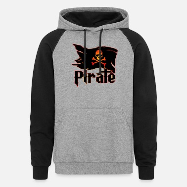 Pirate Pirate Flag - Unisex Colorblock Hoodie