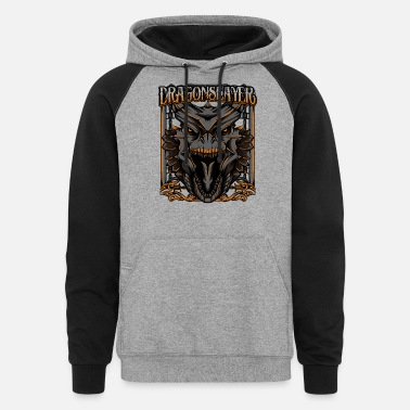 Mythical Beast Dragonslayer Cool Dragon Head Mythical Beast Gift - Unisex Colorblock Hoodie