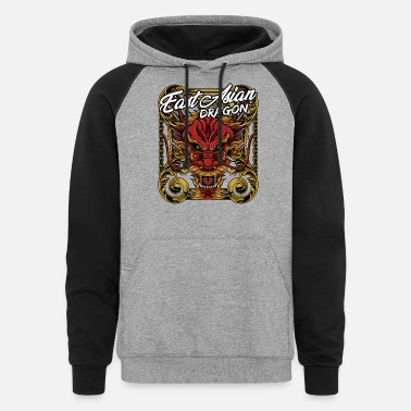 Mythical Beast Cool Chinese Dragon Head Mythical Beast Legendary - Unisex Colorblock Hoodie