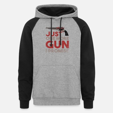 Rifle Club Weapon pistol gift rifle club cartridge - Unisex Colorblock Hoodie