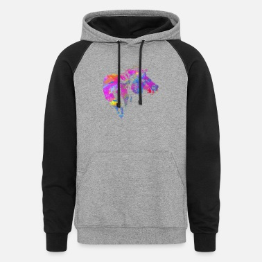Pbr Happiness is China Shop : Love is Bull - Unisex Colorblock Hoodie