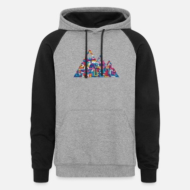 Mountain Peak Mountains Peaks Peaks - Unisex Colorblock Hoodie