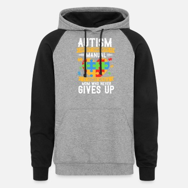 Autism Awareness Day Autism Awareness Day , Autism Mom, Colorful Hope - Unisex Colorblock Hoodie