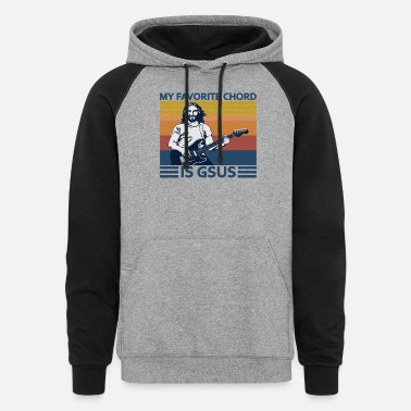 My Favorite Chord Is Gsus Guitar - Unisex Colorblock Hoodie