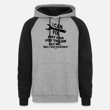 Wrench Craftsmen Car Engine Transmission - Unisex Colorblock Hoodie