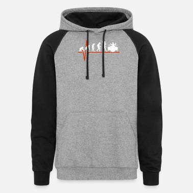 Tambores Drums Heartbeat - EVOLUTION OF DRUMS - Unisex Colorblock Hoodie