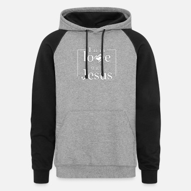 Christian Designs Christian Design - I'm in love with Jesus - Unisex Colorblock Hoodie