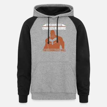 The hardest choices - Unisex Colorblock Hoodie