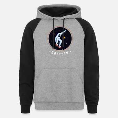 Outerspace Grindin'In Outerspace - Unisex Colorblock Hoodie
