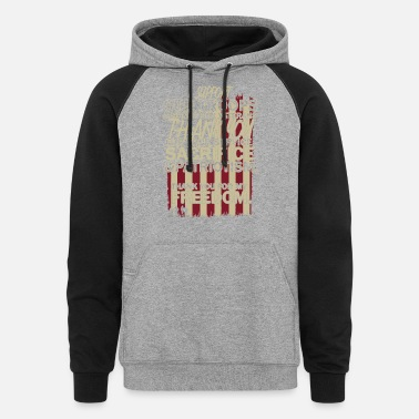 Support Our Troops Support Our Troop Shirt - Unisex Colorblock Hoodie