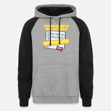 School Starter I'm a school kid enrolling in school slogan - Unisex Colorblock Hoodie