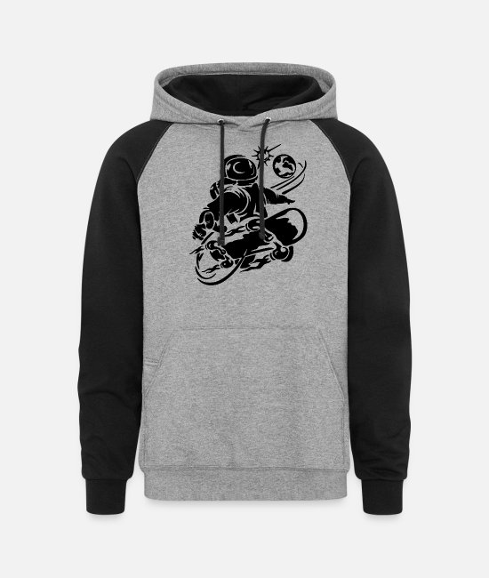 Heart Hoodies & Sweatshirts - Space Boarding - Space Boarding - Unisex Colorblock Hoodie heather gray/black