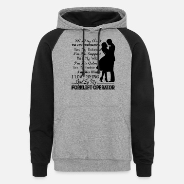 Forklift Operator Forklift Operator Shirt - Unisex Colorblock Hoodie