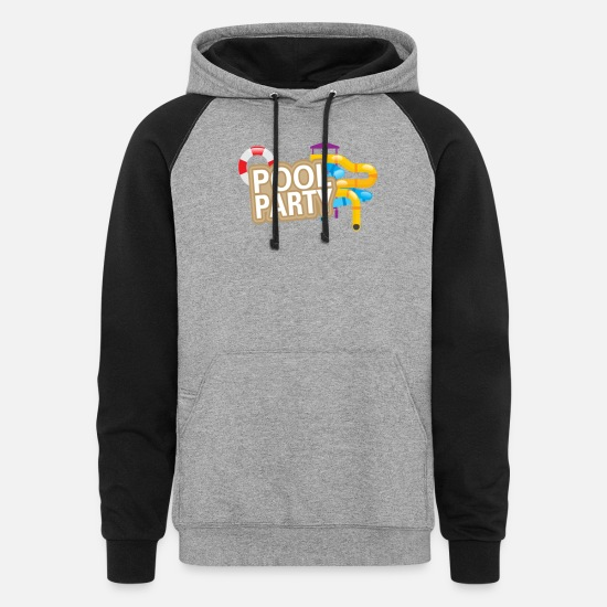 Pool Hoodies & Sweatshirts - Summer Pool Party - Unisex Colorblock Hoodie heather gray/black