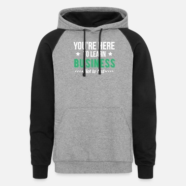 Business Funny Business Major, College Student Gift - Unisex Colorblock Hoodie