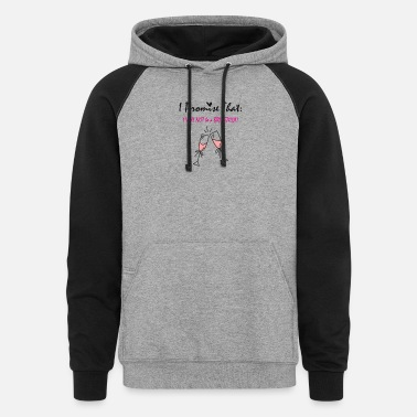 Bride Bride to be funny sayings - Unisex Colorblock Hoodie