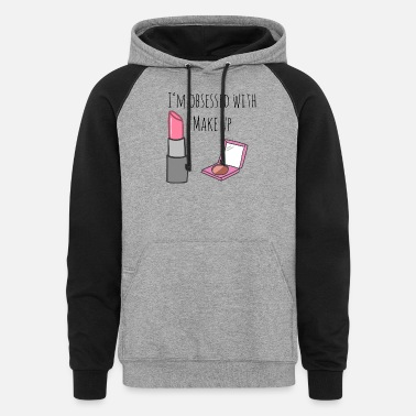 Lipstick make up - Unisex Colorblock Hoodie