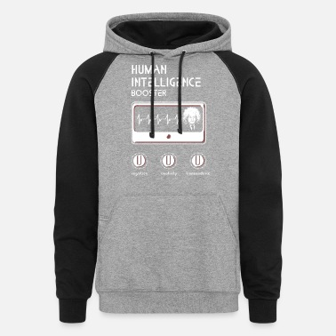 Genius Booster Genius - Human Intelligence Booster - Unisex Colorblock Hoodie