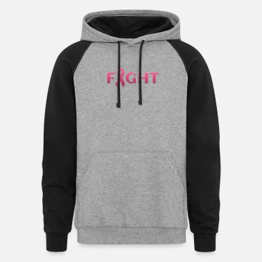 Breast Cancer Fight Breast cancer FIGHT - Unisex Colorblock Hoodie