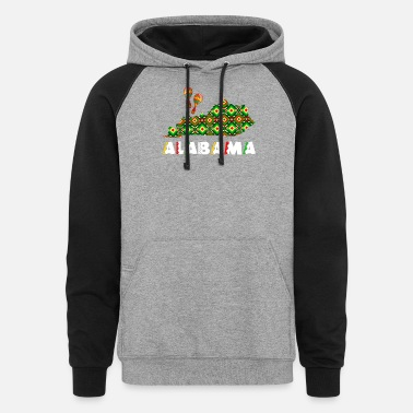 Cinco De Mayo United States Cinco De Mayo Alabama - Unisex Colorblock Hoodie