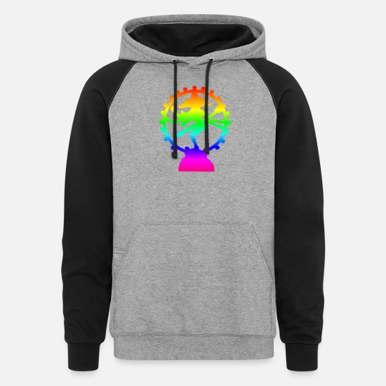 Ireland Hoodies & Sweatshirts - Rainbow Shiva - Unisex Colorblock Hoodie heather gray/black