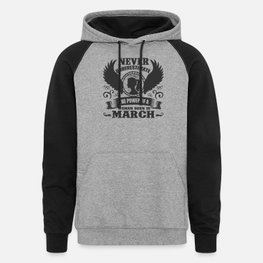 Wos March MARCH WO 1A.png - Unisex Colorblock Hoodie