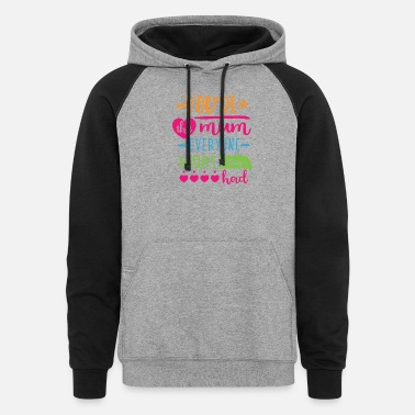 Reunion Youre the mum everyone wishes - Unisex Colorblock Hoodie
