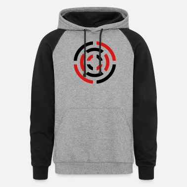 Circle circle sign - Unisex Colorblock Hoodie