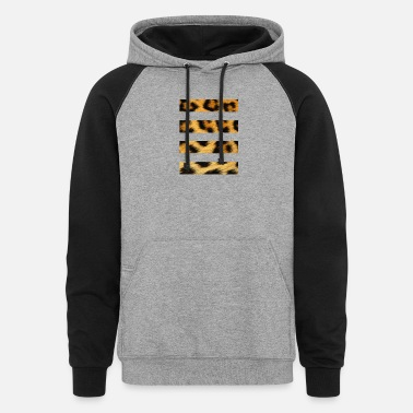 4 Bar Cheetah - Unisex Colorblock Hoodie