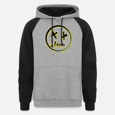 Voodoo Smiley - Unisex Colorblock Hoodie