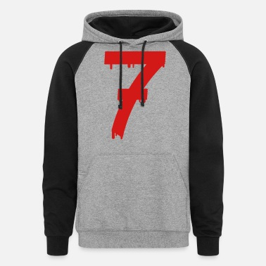 Age lucky number seven - Unisex Colorblock Hoodie