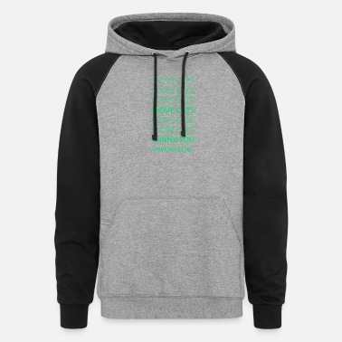 I Love Cats - Unisex Colorblock Hoodie