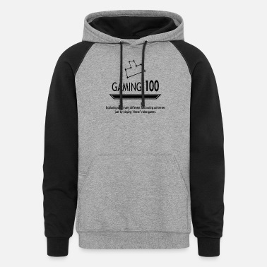 GAMING design in famous GAME theme for GAMERS - Unisex Colorblock Hoodie