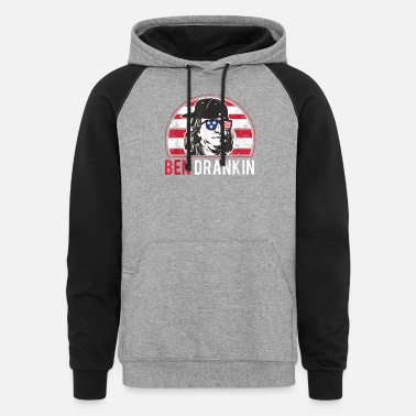 Bengalo Ben Drankin 4th of July Ben Drankin 4th of July - Unisex Colorblock Hoodie
