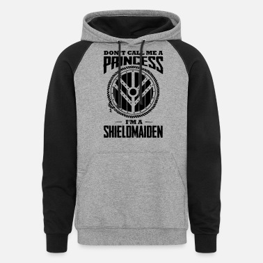 Shield 18_Don't call me princess_1c - Unisex Colorblock Hoodie