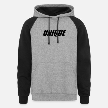 Unique UNIQUE - Unisex Colorblock Hoodie