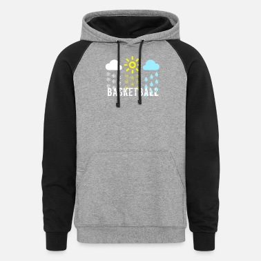 Cool Basketball Cool design for basketball basketball gift - Unisex Colorblock Hoodie
