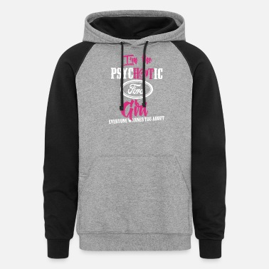 Michael Clifford Ford - Ford - im the psychotic ford girl - Unisex Colorblock Hoodie