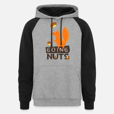 Go Nuts Squirrel Going Nuts - Unisex Colorblock Hoodie