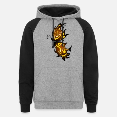 Flaming Butterfly - Unisex Colorblock Hoodie