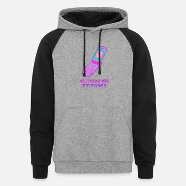 Snitches Get Stitches Snitches Get Stitches - Vaporwave - Unisex Colorblock Hoodie