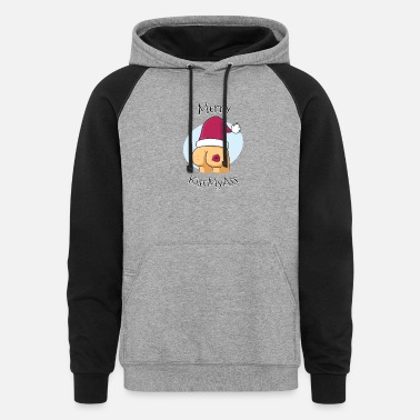 Merry Merry KissMyAss - Unisex Colorblock Hoodie