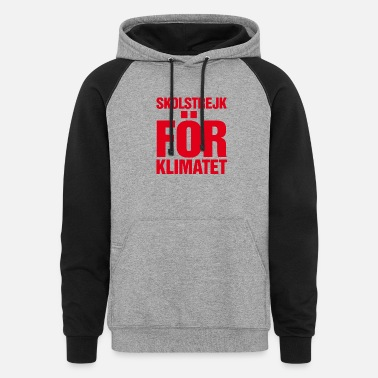 Im With Greeta skolstrejk For klimatet - Unisex Colorblock Hoodie