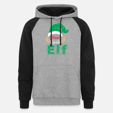 Mami Mamis Little Elf Christmas Xmas - Unisex Colorblock Hoodie