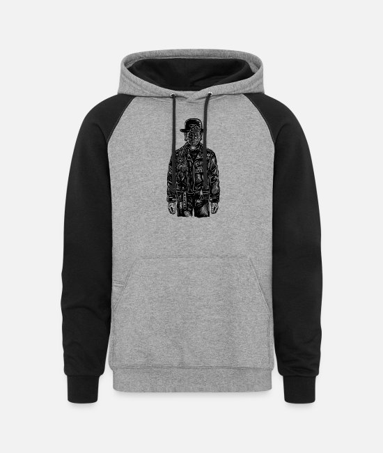 Explosion Hoodies & Sweatshirts - The Son Of Grenade - Unisex Colorblock Hoodie heather gray/black