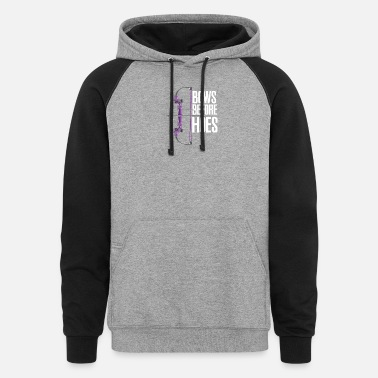 Forklift Operator Bows Before Hoes - Unisex Colorblock Hoodie
