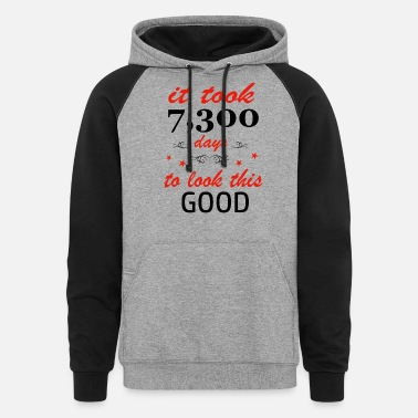 20 It took 20 years to get this awesome - Unisex Colorblock Hoodie