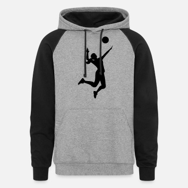 Beach beach volleyball player spieler sports games - Unisex Colorblock Hoodie