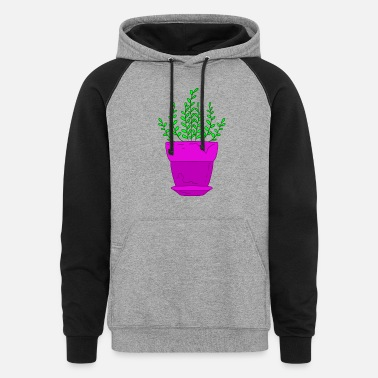 Nature Plant Green potted plant. Planting plants. Nature lover. - Unisex Colorblock Hoodie